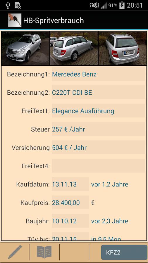 HB-Spritverbrauch Lite - screenshot