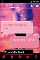 Screenshot of GO SMS Pro Valentine Day