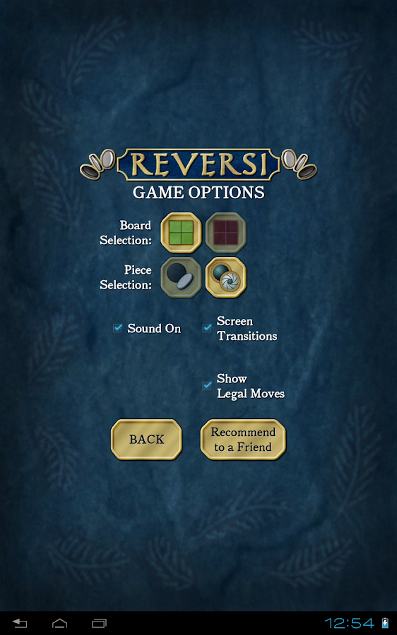 Reversi - screenshot