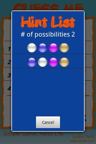 Guess Color - screenshot