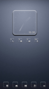Transparent RS Clock UCCW skin- screenshot thumbnail