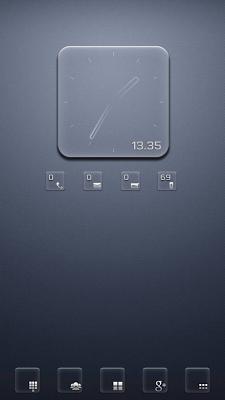 Transparent RS Clock UCCW skin - screenshot