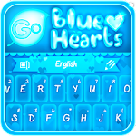 GO Keyboard Blue Hearts Theme