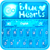 GO Keyboard Blue Hearts Theme