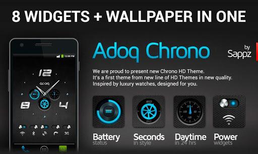 玩免費個人化APP|下載Adoq Chrono HD Widgets + WP app不用錢|硬是要APP