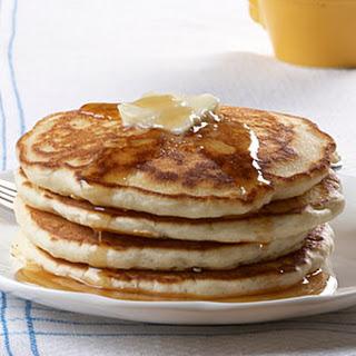 Fluffy Cream Cheese Pancakes.