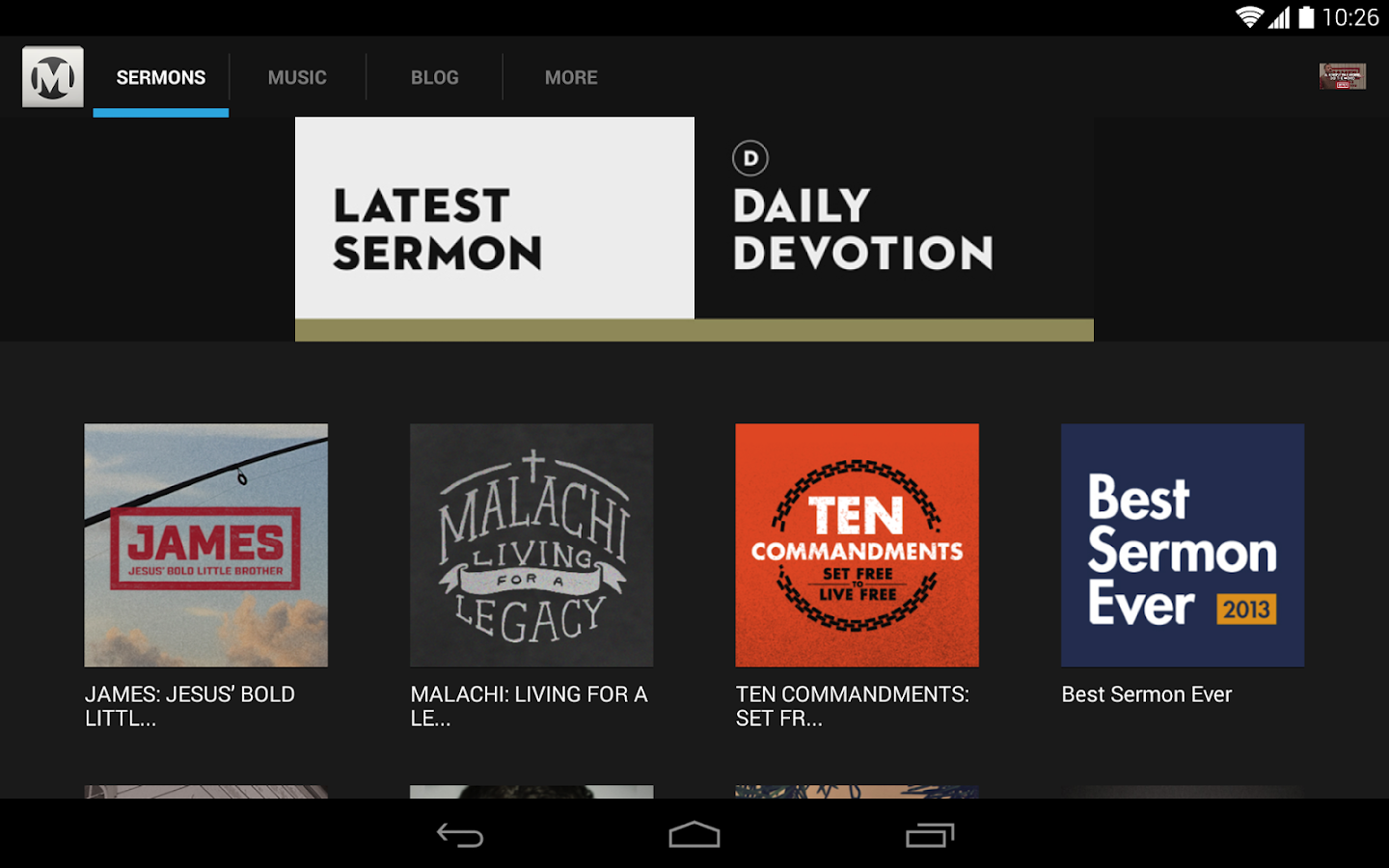 Mars Hill Church - screenshot