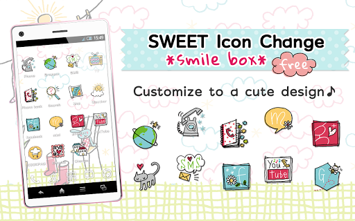 無料个人化AppのSWEET IconChange smilebox free|記事Game