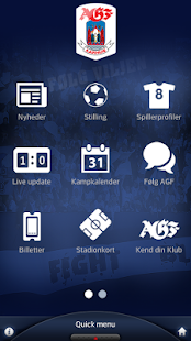 Den officielle AGF app- screenshot thumbnail