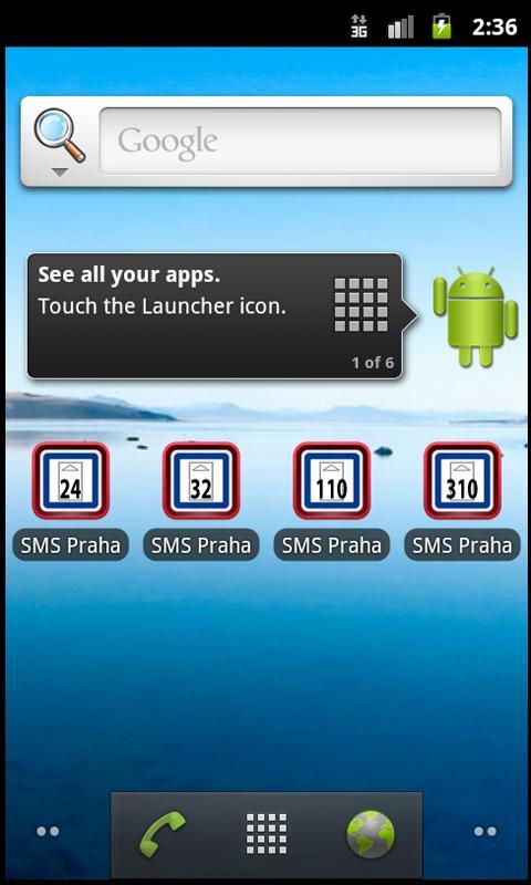 SMS jízdenka 110 Kč- screenshot