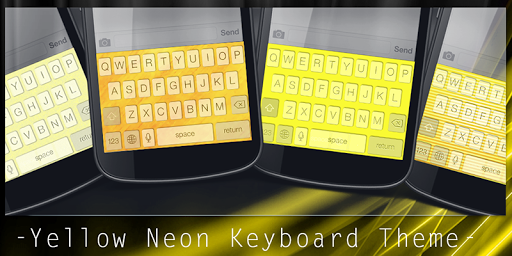 Yellow Neon Keyboard Theme