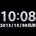 钢数字时钟小工具 -Me Clock icon