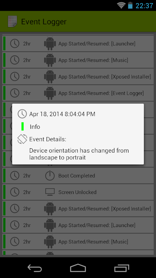 Event Logger- screenshot