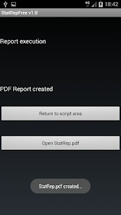 Statistic Report Creation Demo- screenshot thumbnail