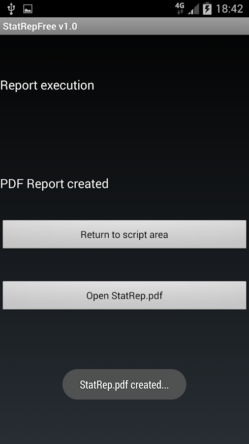 Statistic Report Creation Demo- screenshot
