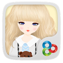 Lovely Girl GO Launcher Theme icon