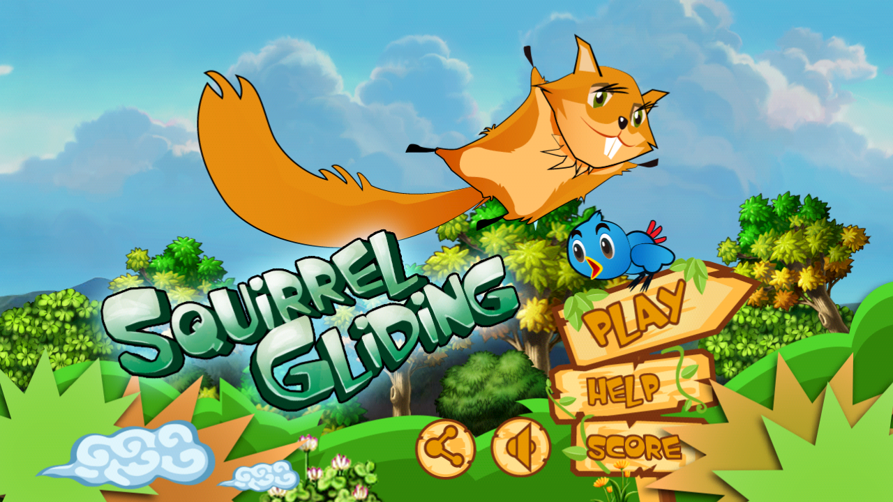 Squirrel Gliding - screenshot