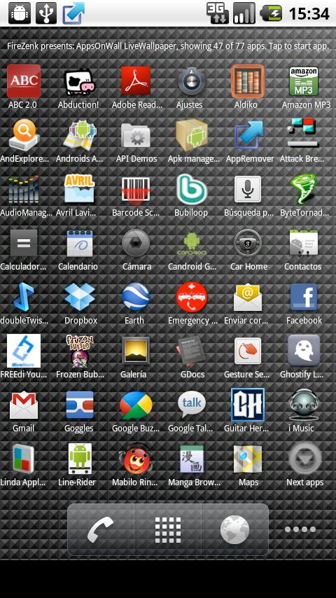 Apps On Wall- screenshot