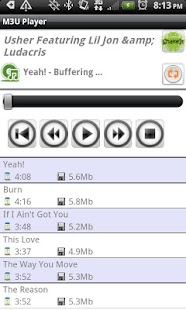 M3U Player - screenshot thumbnail