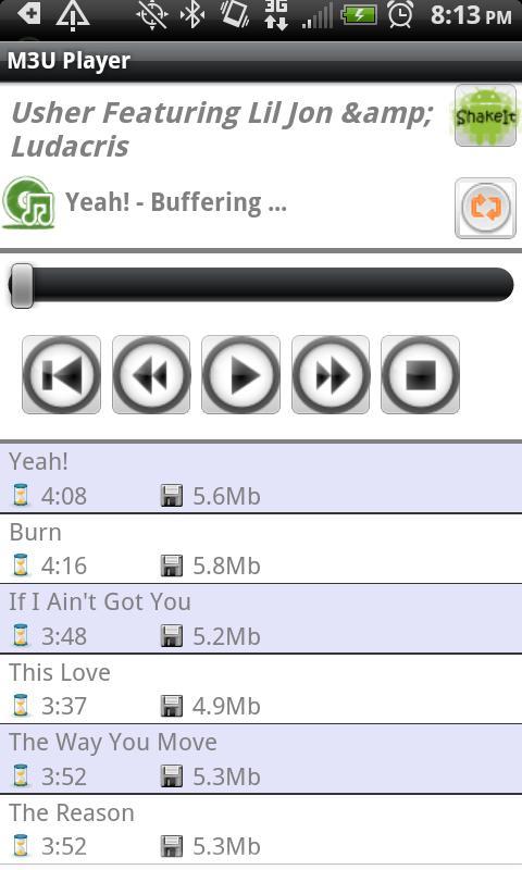 M3U Player - screenshot