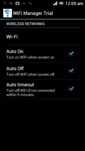 Auto Wifi On Off Switch