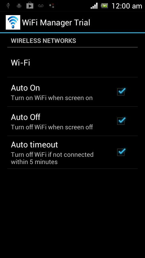 Auto Wifi On Off Switch- screenshot