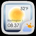GO Weather EX Theme White icon