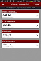 Screenshot of 1st Colonial Mobile Banking
