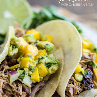 Slow Cooker Jerk Pork with Caribbean Salsa