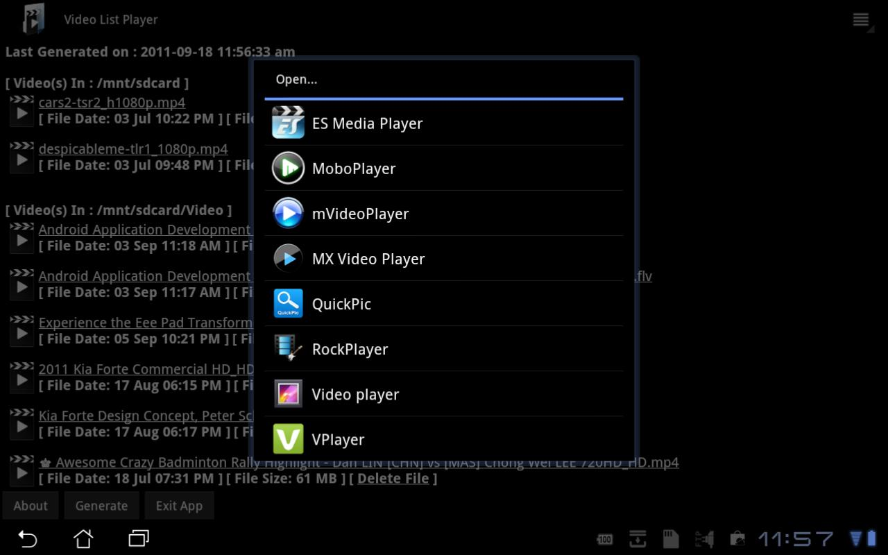 Video List Player - screenshot