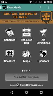 NCECA Events App- screenshot thumbnail