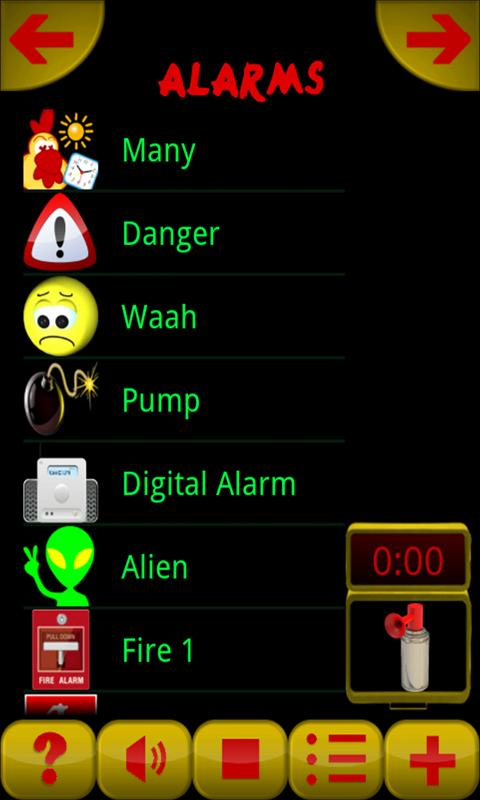 Divertidas Alarmas Ringtones: captura de pantalla