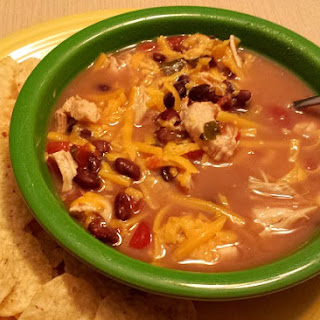 Easy Slow Cooker Santa Fe Chicken Soup