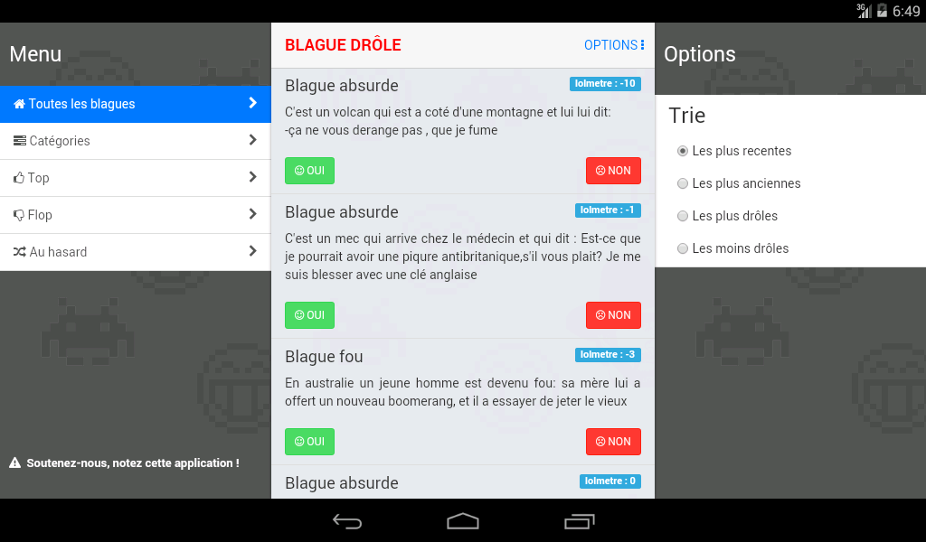 Blague Drôle- screenshot