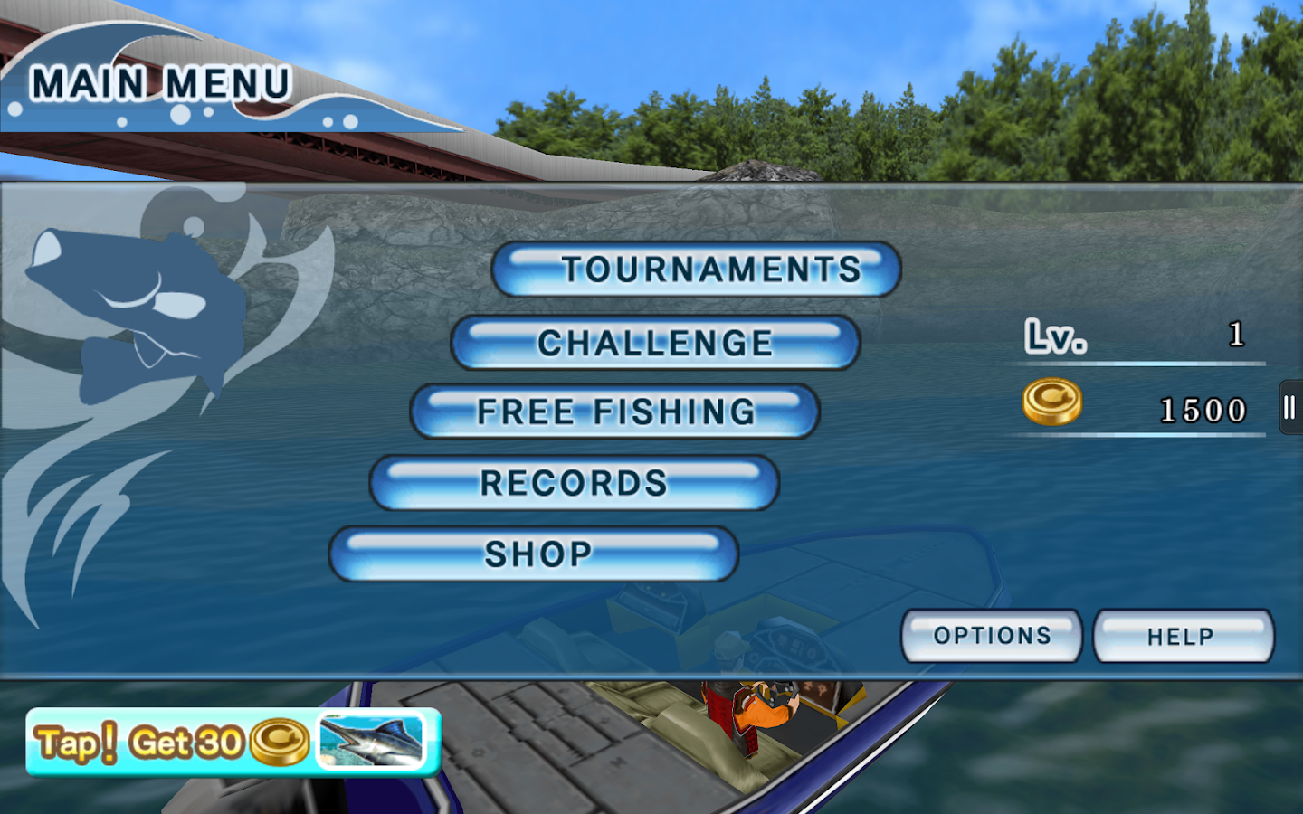 Bass Fishing 3D Free - screenshot