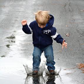 Fun after the rain! by Carolyn Parks - Babies & Children Children Candids
