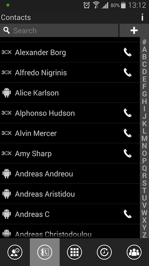 3CXPhone for Phone System v12 - screenshot