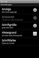 Screenshot of Text Uhr