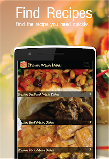 Italian recipes free app android apps on google play italian recipes free app screenshot thumbnail forumfinder Gallery