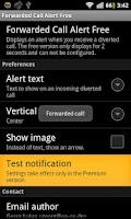 Screenshot of Forwarded Call Alert Free ROOT