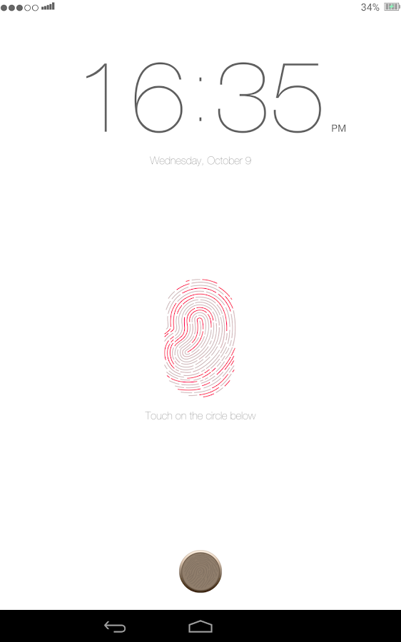 Lock screen: IPhone 5s Finger - screenshot
