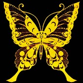3D Golden butterfly 1