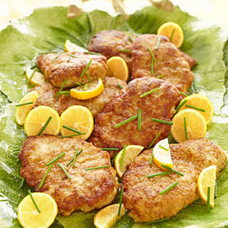 Parmesan-Crusted Chicken with Lemon Butter .