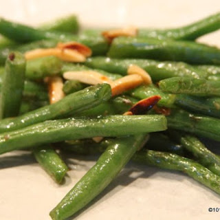 Simple Stove Top Green Beans with Almonds.