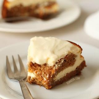 Healthier Carrot Cake Cheesecake