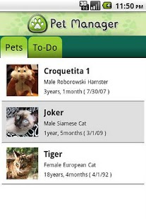 Pet Manager - screenshot thumbnail