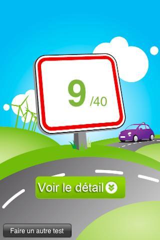 Application résultat code de la route