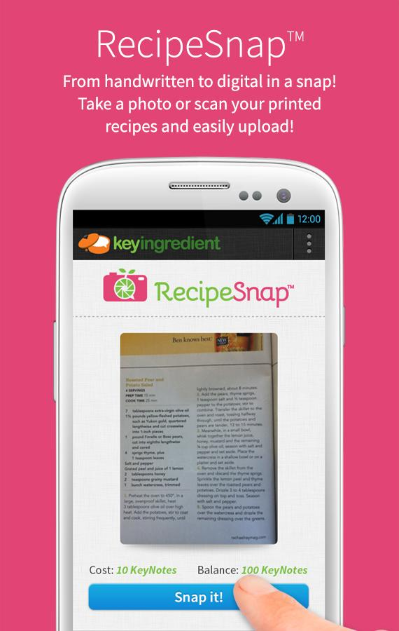 Key Ingredient 1.7 MM Recipes - screenshot