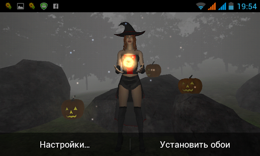 Halloween Witch LIVE WALLPAPER - screenshot thumbnail