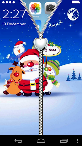 Santa Clause zip Lock Screen